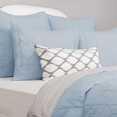 Bedroom inspiration and bedding decor | The Chevron French Blue Quilt & Sham Duvet Cover | Crane and Canopy