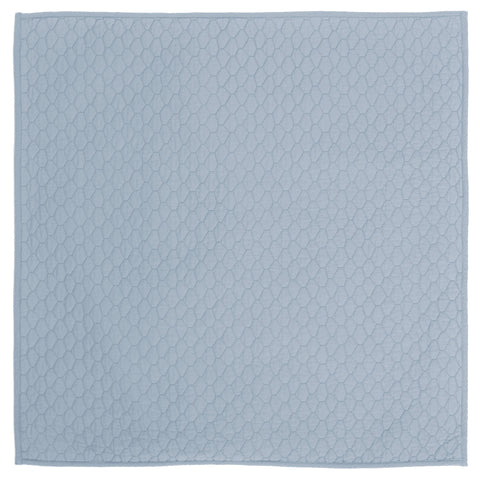 French Blue Cloud Quilt Euro Sham