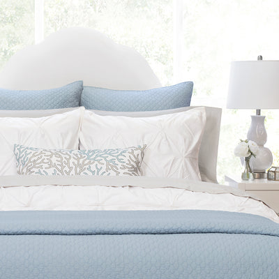 Bedroom inspiration and bedding decor | The Cloud French Blue Quilt & Sham Duvet Cover | Crane and Canopy