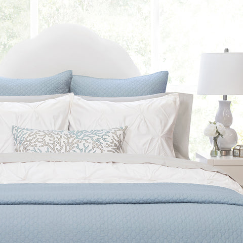 Bedroom inspiration and bedding decor | The Cloud French Blue Quilt & Sham | Crane and Canopy