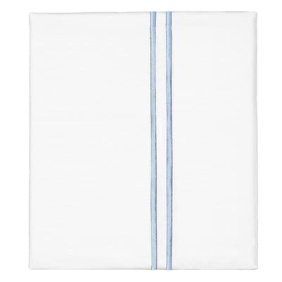 French Blue Lines Embroidered Flat Sheet