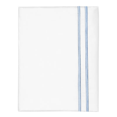 French Blue Lines Embroidered Pillow Case
