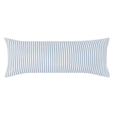 The French Blue Striped Extra Long Throw Pillow