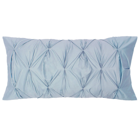 French Blue Pintuck Throw Pillow