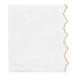 Gold Scalloped Embroidered Flat Sheet