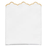 Gold Scalloped Embroidered Pillow Case