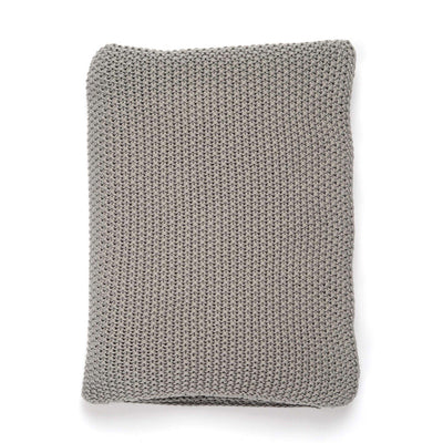 Grey Knotted Throw
