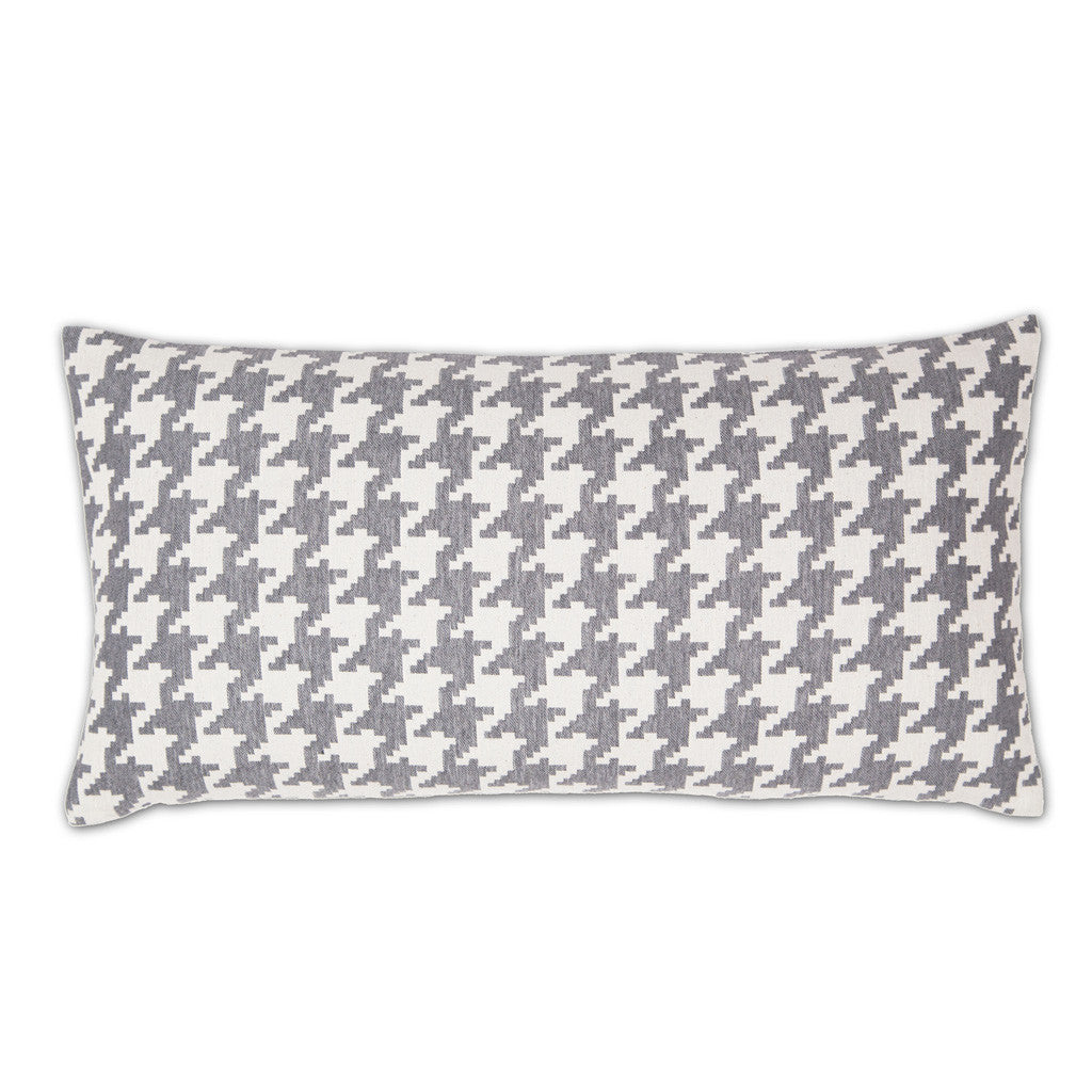 Bedroom inspiration and bedding decor | The Gray and White Houndstooth Throw Pillows | Crane and Canopy