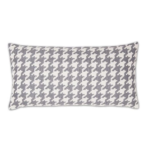 The Gray and White Houndstooth Throw Pillow