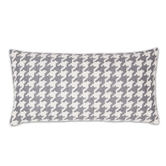 The Gray And White Houndstooth Throw Pillow Crane Amp Canopy