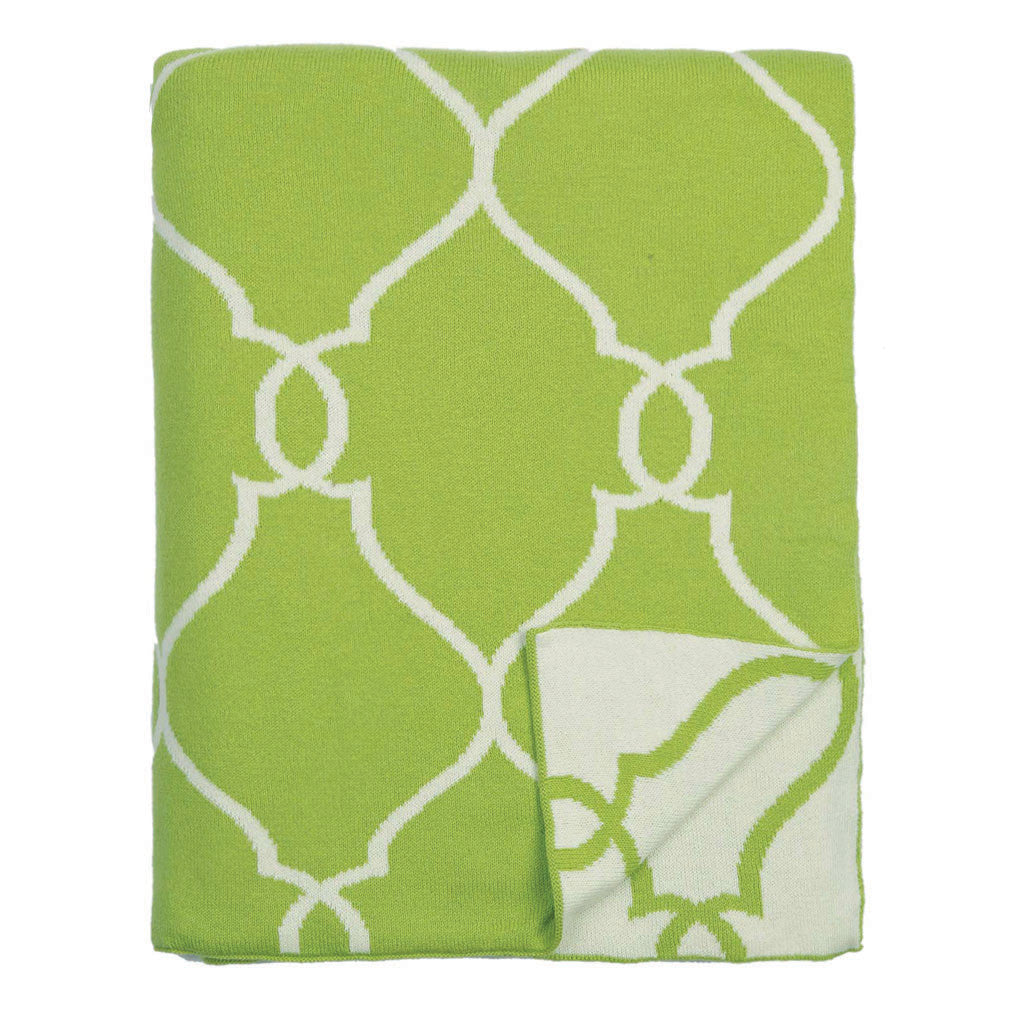 Bedroom inspiration and bedding decor | The Green Lattice Reversible Patterned Throw | Crane and Canopy