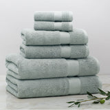 Classic Green Towel Essentials Bundle (2 Wash + 2 Hand + 2 Bath Towels)