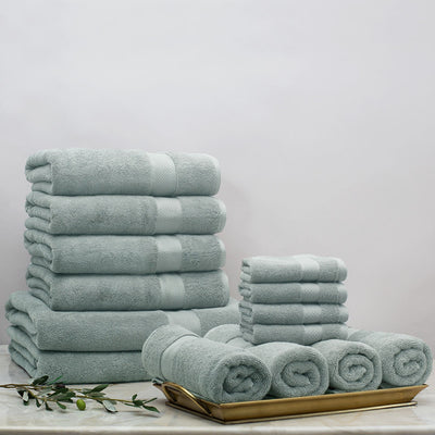 Classic Green Towel Resort Bundle (4 Wash + 4 Hand + 4 Bath Towels + 2 Bath Sheets)