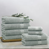 Classic Green Towel Spa Bundle (2 Wash + 2 Hand + 4 Bath Towels)