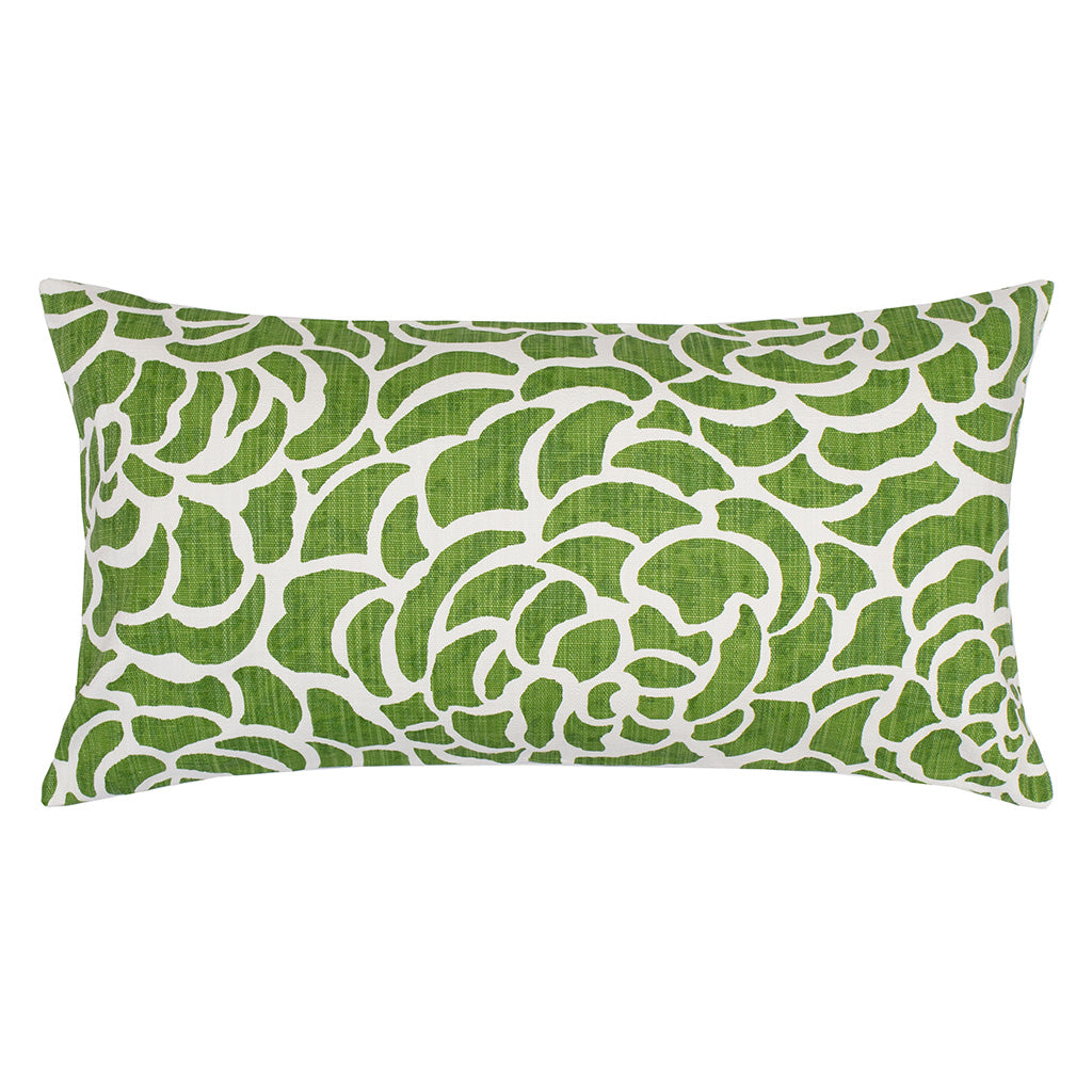 Bedroom inspiration and bedding decor | The Kelly Green Peony Throw Pillows | Crane and Canopy