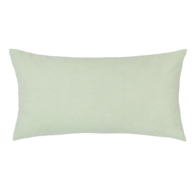 Green Seersucker Throw Pillow