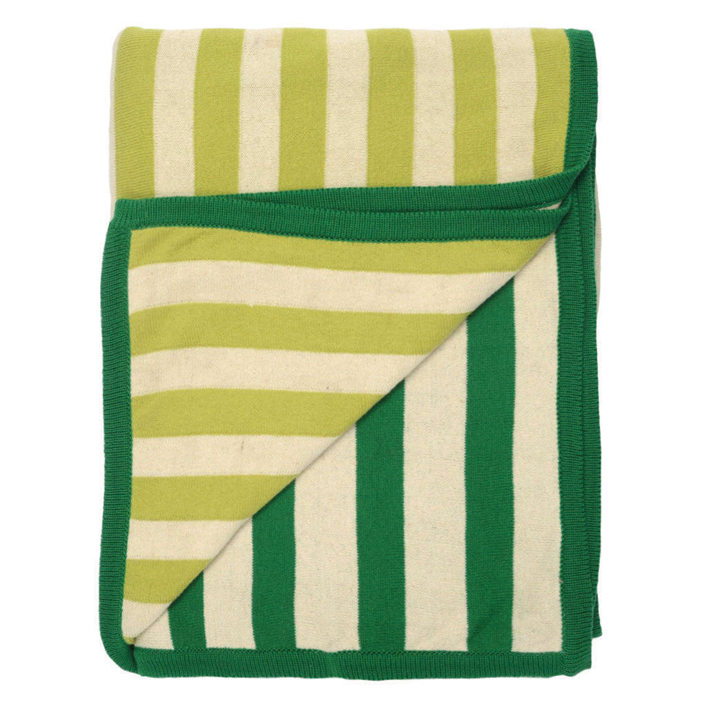 Bedroom inspiration and bedding decor | The Green Dual Stripe Throw | Crane and Canopy