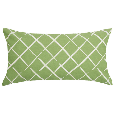 The Green Diamonds Throw Pillow