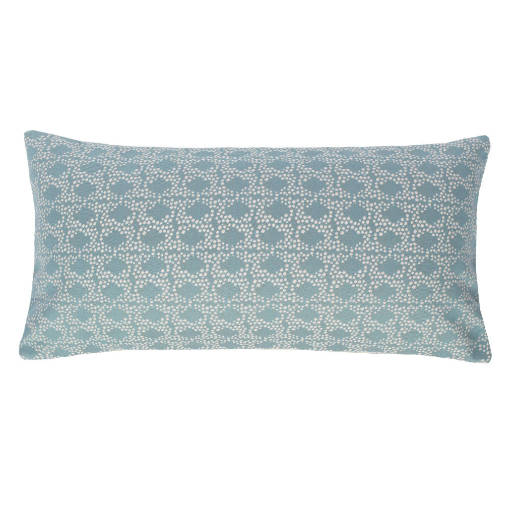 The Seafoam Green and White Confetti Throw Pillow Crane & Canopy