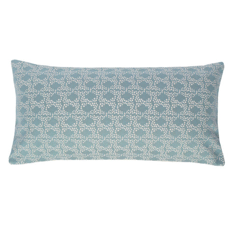 The Seafoam Green and White Confetti Throw Pillow