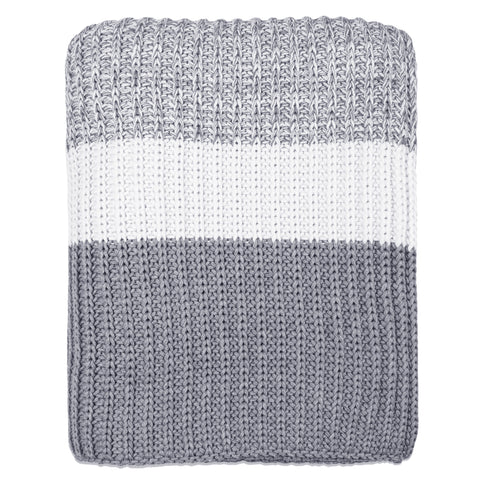 The Grey Banded Edge Throw