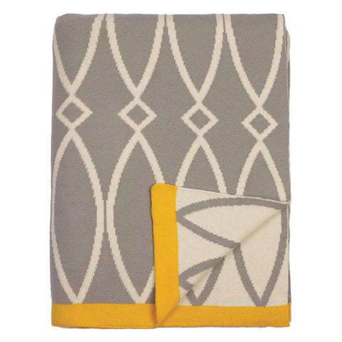 The Grey Geometric Reversible Patterned Throw