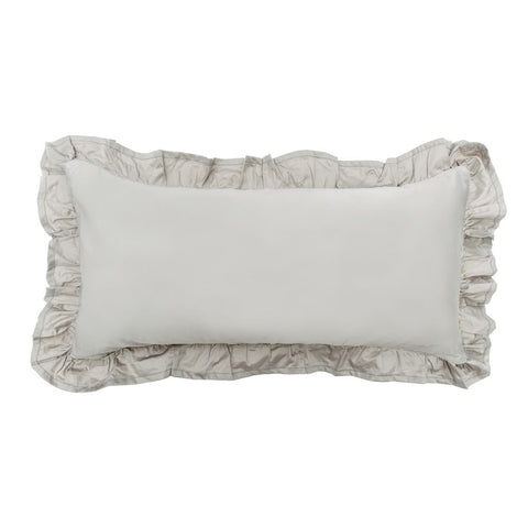 Bedroom inspiration and bedding decor | The Oyster Grey Vienna Throw Pillow | Crane and Canopy