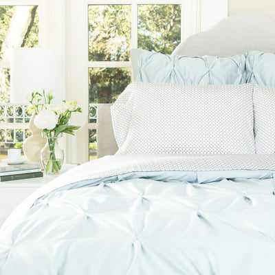 Bedroom inspiration and bedding decor | The Grey Morning Glory Sheet Sets | Crane and Canopy