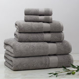 Classic Grey Towel Essentials Bundle (2 Wash + 2 Hand + 2 Bath Towels)