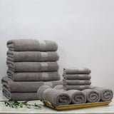 Classic Grey Towel Resort Bundle (4 Wash + 4 Hand + 4 Bath Towels + 2 Bath Sheets)