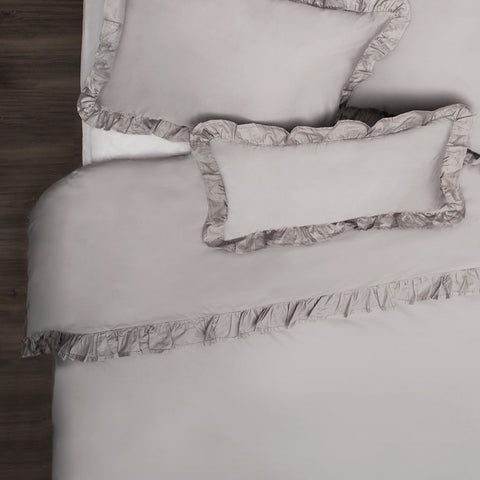 Bedroom inspiration and bedding decor | The Vienna Oyster Grey Duvet Cover | Crane and Canopy