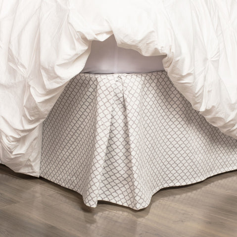 Grey Cloud Bed Skirt