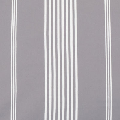 Grey Striped Seaport Fitted Sheet
