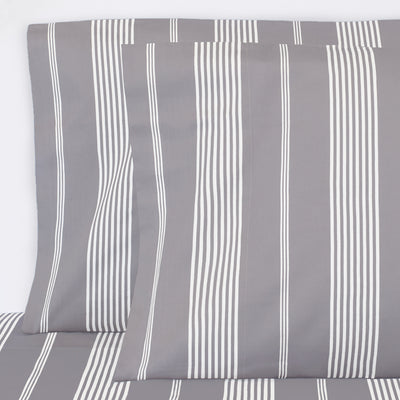 Grey Striped Seaport Pillow Case