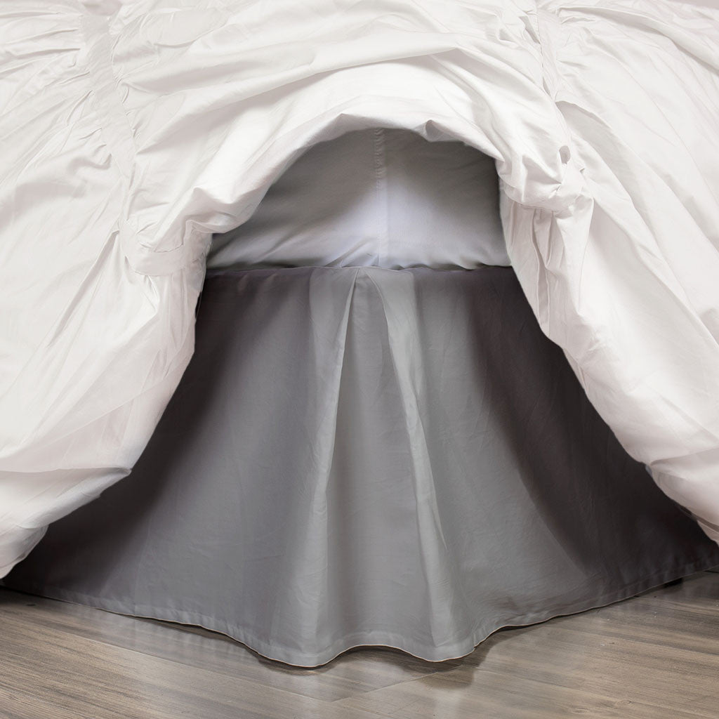 Bedroom inspiration and bedding decor | The Grey Pleated Bed Skirt Duvet Cover | Crane and Canopy