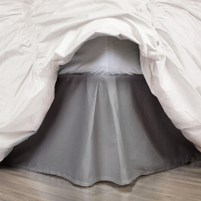Bedroom inspiration and bedding decor | Grey Pleated Bed Skirt Duvet Cover | Crane and Canopy