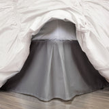 Grey Pleated Bed Skirt