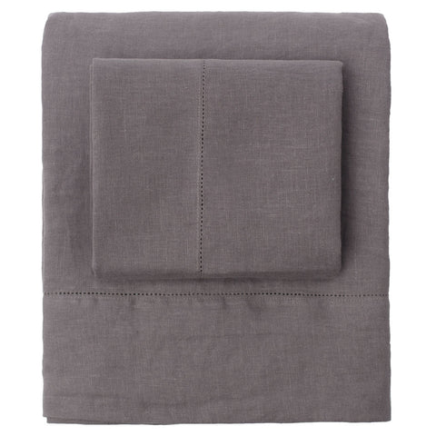 The Grey Belgian Linen Sheets