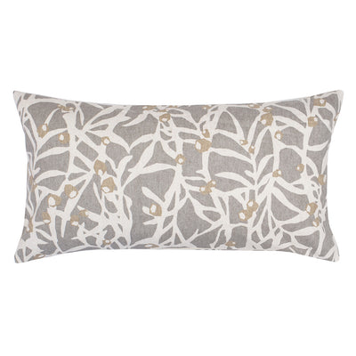Grey Berries Throw Pillow