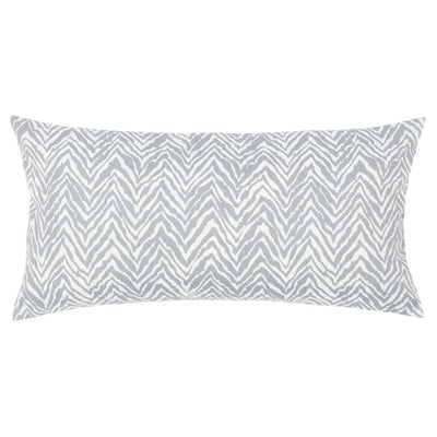 Grey Zebra Chevron Throw Pillow