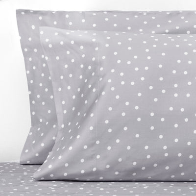 Grey Polka Dots Pillow Case