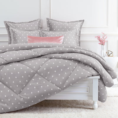 Bedroom inspiration and bedding decor | The Flora Grey Comforter Duvet Cover | Crane and Canopy