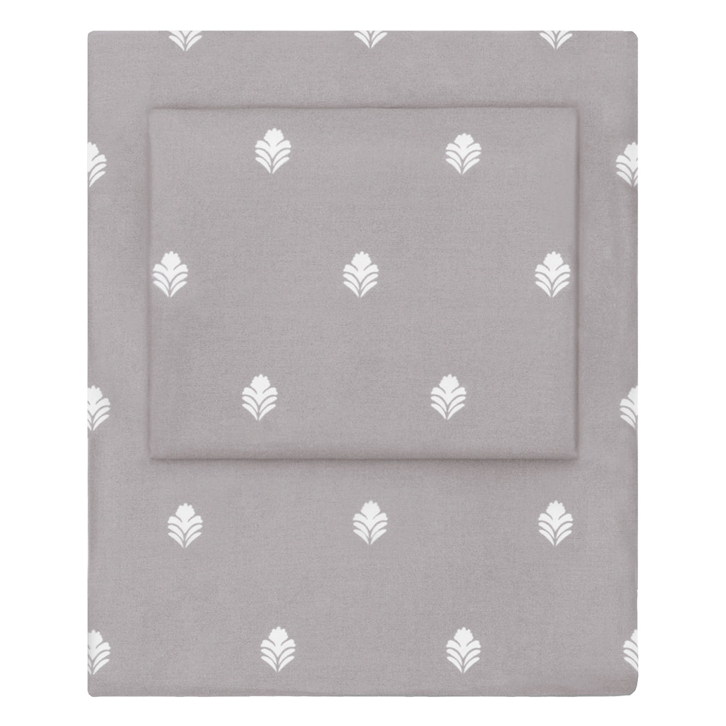 Bedroom inspiration and bedding decor | Grey Flora Sheet Set  (Fitted, Flat, & Pillow Cases)s | Crane and Canopy