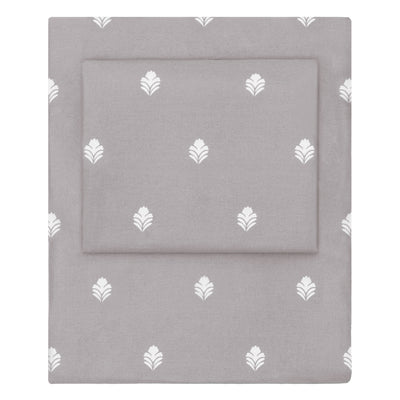 Grey Flora Sheet Set  (Fitted, Flat, & Pillow Cases)