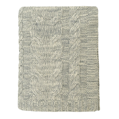 The Grey Chunky Braid Cotton Throw