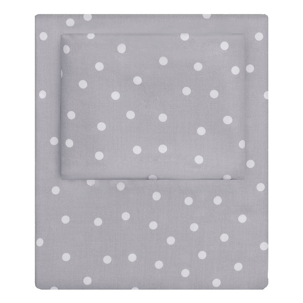 Bedroom inspiration and bedding decor | Grey Polka Dots Sheet Set  (Fitted, Flat, & Pillow Cases)s | Crane and Canopy