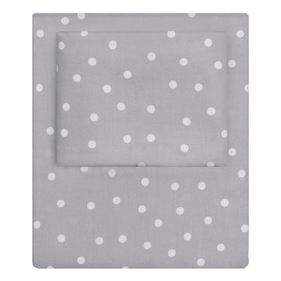 Grey Polka Dots Sheet Set 2 (Fitted & Pillow Cases)