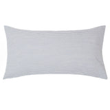 Grey Seersucker Throw Pillow
