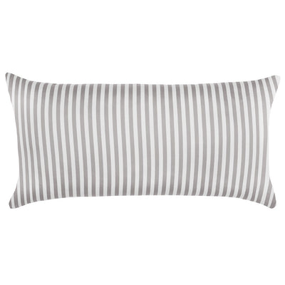 Grey Striped Throw Pillow
