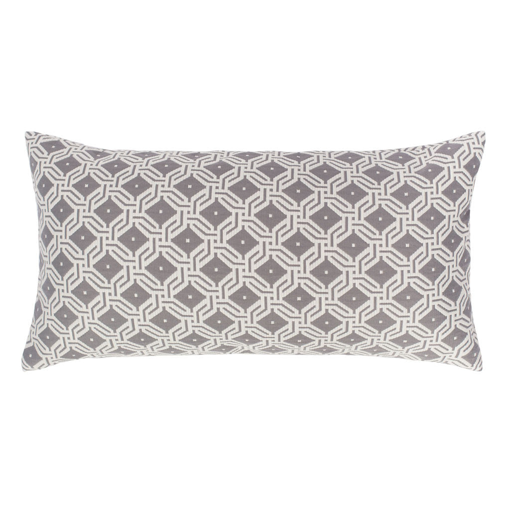 Bedroom inspiration and bedding decor | The Grey and White Diamond Circlet Throw Pillows | Crane and Canopy